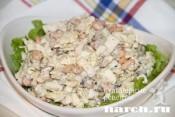 """Салат из сайры с пекинской капустой """"Фуршет"""""""