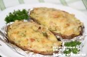 """Фаршированный картофель """"Карбонара"""""""