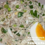 Салат из печени трески с капустой «Астраханский»