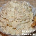Салат с кальмаром «Мильфей»