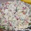 Салат с консервированным кальмаром «Забава»