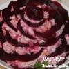 Салат с сельдью и кальмарами «Черная роза»