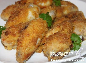 kurinie krilishki v sirno suharnoi korochke 8 Куриные крылышки в сырно сухарной корочке