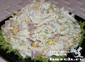 Салат рецепт курица с пекинской капустой 1
