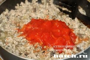 myasnaya zapekanka s vermisheliu i gribami 06 Мясная запеканка с вермишелью и грибами