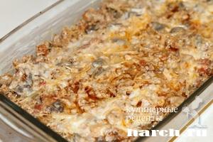 myasnaya zapekanka s vermisheliu i gribami 11 Мясная запеканка с вермишелью и грибами