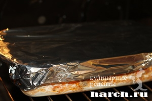 myasnaya zapekanka s vermisheliu i gribami 12 Мясная запеканка с вермишелью и грибами