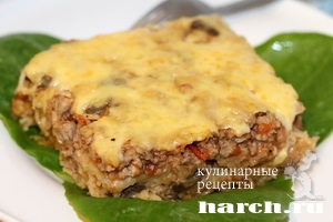 myasnaya zapekanka s vermisheliu i gribami 141 Мясная запеканка с вермишелью и грибами