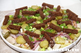 salat zakuska s seldiu borodino 10 Салат закуска с сельдью Бородино