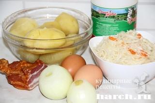 kartofelnaya zapekanka s kvashenoy kapustoy 21 Картофельная запеканка с квашеной капустой