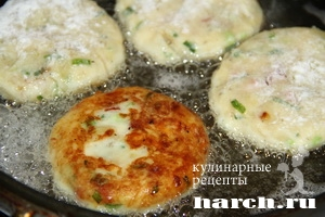 kartofelnie sicheniki s lukom i bekonom 08 Картофельные сиченики с луком и беконом