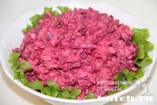 salat is svekli s izumom marina 4 Салат из свеклы с изюмом Марина