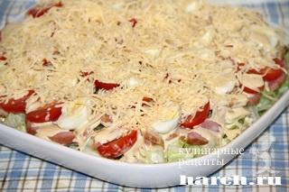 salat so svininoy i vetchinoy lidiya 8 Салат со свининой и ветчиной Лидия