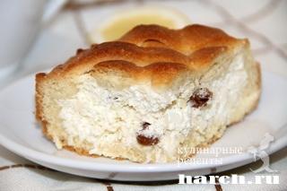 smetanniy pirog s tvorogno kokosovoy nachinkoy 161 Сметанный пирог с творожно кокосовой начинкой