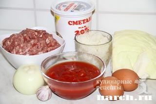 zapekanka s myasnim farshem risom kapustoy 02 Запеканка с мясным фаршем, рисом и капустой