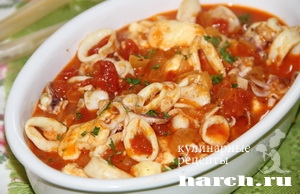 kalmari s fetoy i tomatami po grechesky 61 Кальмары с фетой и томатами по гречески