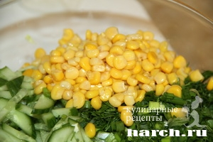 kapustniy salat s kukurusoy i ananasom 4 Салат из капусты с кукурузой и ананасами Гаврош