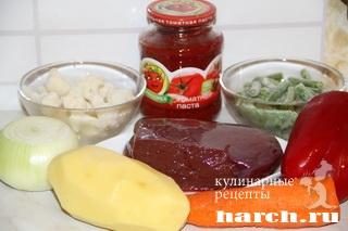 ovoghnoy sup gulyash s pecheniu 02 Овощной суп гуляш с печенью