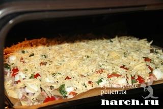 Пицца на картофельном тесте Мясной пир