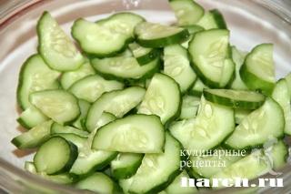 salat is ogurcov s kiwi rosa 2 Салат из огурцов с киви Роса