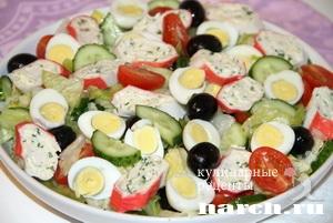 salat s farshirovanimi krabovimi palochkami elegiya 6 Салат с фаршированными крабовыми палочками Элегия