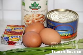 salat s konservirovanoy riboy i fasoliu 8 Салат с консервированной рыбой и фасолью Лаура