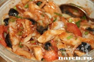 zakuska is seldi s tomatami po ispansky 5 Закуска из сельди с томатами по испански