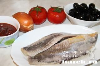 zakuska is seldi s tomatami po ispansky 8 Закуска из сельди с томатами по испански
