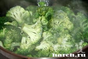 kurinaya pechen s brokkoli v omlete 03 Куриная печень с брокколи в омлете