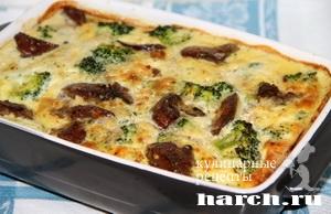 kurinaya pechen s brokkoli v omlete 091 Куриная печень с брокколи в омлете