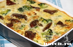 kurinaya pechen s brokkoli v omlete 10 Куриная печень с брокколи в омлете