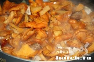 pirog gulien s kuricey i gribami 07 Пирог жульен с курицей и грибами