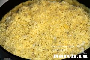 pirog gulien s kuricey i gribami 11 Пирог жульен с курицей и грибами