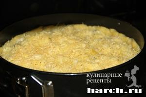 pirog gulien s kuricey i gribami 12 Пирог жульен с курицей и грибами
