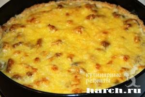pirog gulien s kuricey i gribami 13 Пирог жульен с курицей и грибами