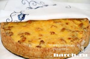 pirog gulien s kuricey i gribami 14 Пирог жульен с курицей и грибами