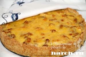pirog gulien s kuricey i gribami 15 Пирог жульен с курицей и грибами