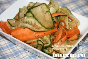 salat is svegih ogurcov s morkoviu masao 4 Салат из свежих огурцов с морковью Масао