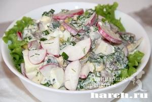 salat s redisom i gribami marina 8 Салат из редиса с грибами Марина