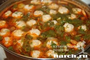 shaveleviy sup s frikadelkami i tomatom 09 Щавелевый суп с фрикадельками и томатом