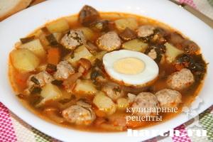 shaveleviy sup s frikadelkami i tomatom 11 Щавелевый суп с фрикадельками и томатом