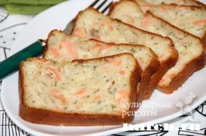sirniy keks s lososem 10 Сырный кекс с лососем