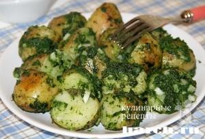 molodoy kartofel so shpinatom i chesnokom 5 Молодой картофель со шпинатом и чесноком