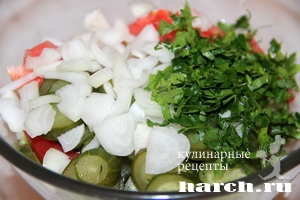 salat is pomidorov kolomenskiy 3 Салат с помидорами Коломенский