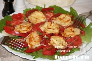 salat is pomidorov s garenim sirom krimskiy 6 Салат из помидоров с жареным сыром Крымский