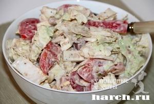 Салат из помидоров с сардинами Милано