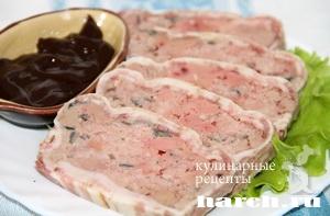 selskiy myasnoy terrin s pecheniu 10 Сельский мясной террин с печенью