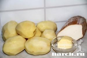Картофельное пюре с колбасным сыром