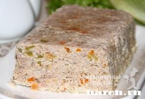 Мясной хлебец с рисом и овощами