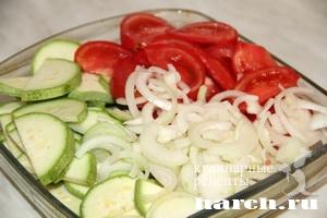 Мясо с кабачками и помидорами Южное